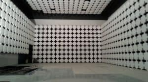 Partially dismantled 10m semi-anechoic chamber